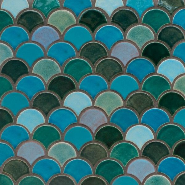 Moroccan Fish Scales By Mercury Mosaics Great Color