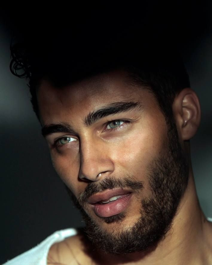 He has beautiful eyes and bone structure, but I'm not a fan of facial hair at all.