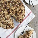 Sinterklaastaart: Appel kruimeltaart met speculaas en amandelspijs