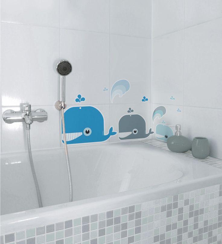 Decoracion De Baños Azules: de ballenas azules para decoración baños niños de nicolasitoes