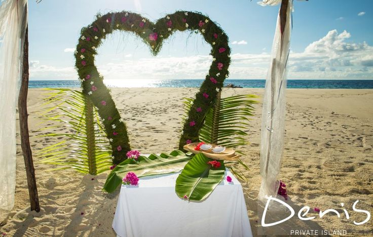 #Wedding set ups Denis Private Island, Seychlles