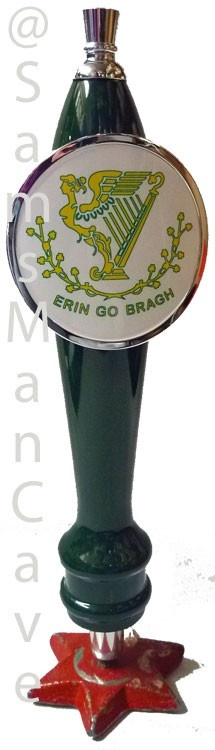 This item is perfect for the Irish themed Man Cave. And the best part about this tap handle, is it doesn't matter what beer you have in your keg, it works for them all!! Sams Man Cave - Erin Go Bragh Tap Handle, $45.00 (http://www.samsmancave.com/erin-go-bragh-tap-handle/)