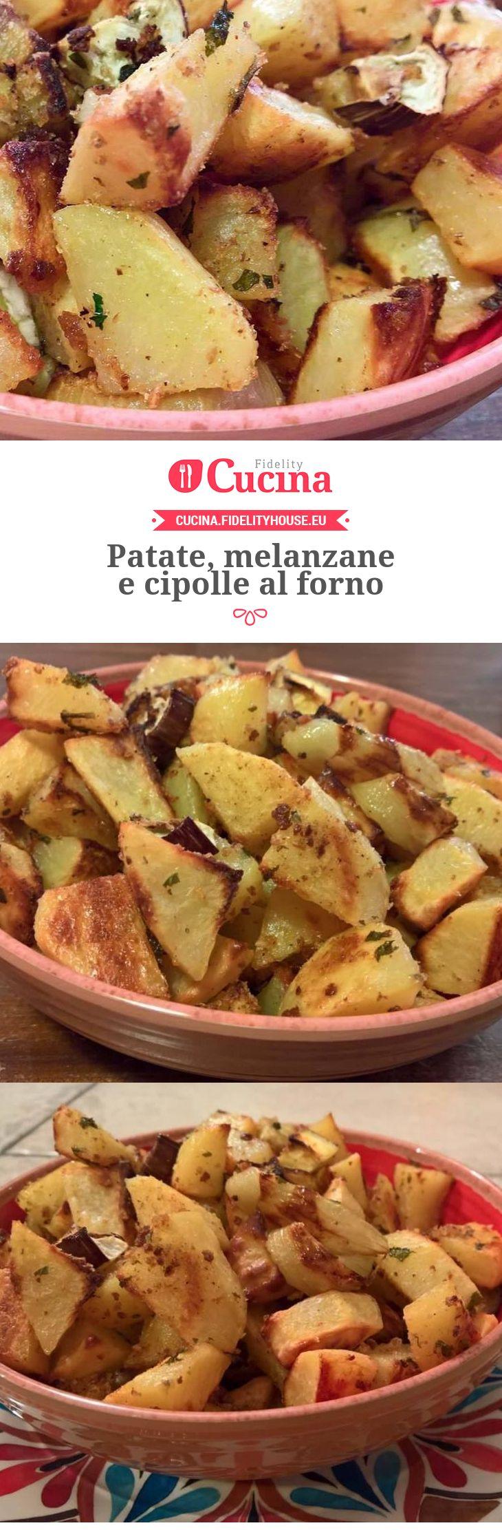 Patate, melanzane e cipolle al forno