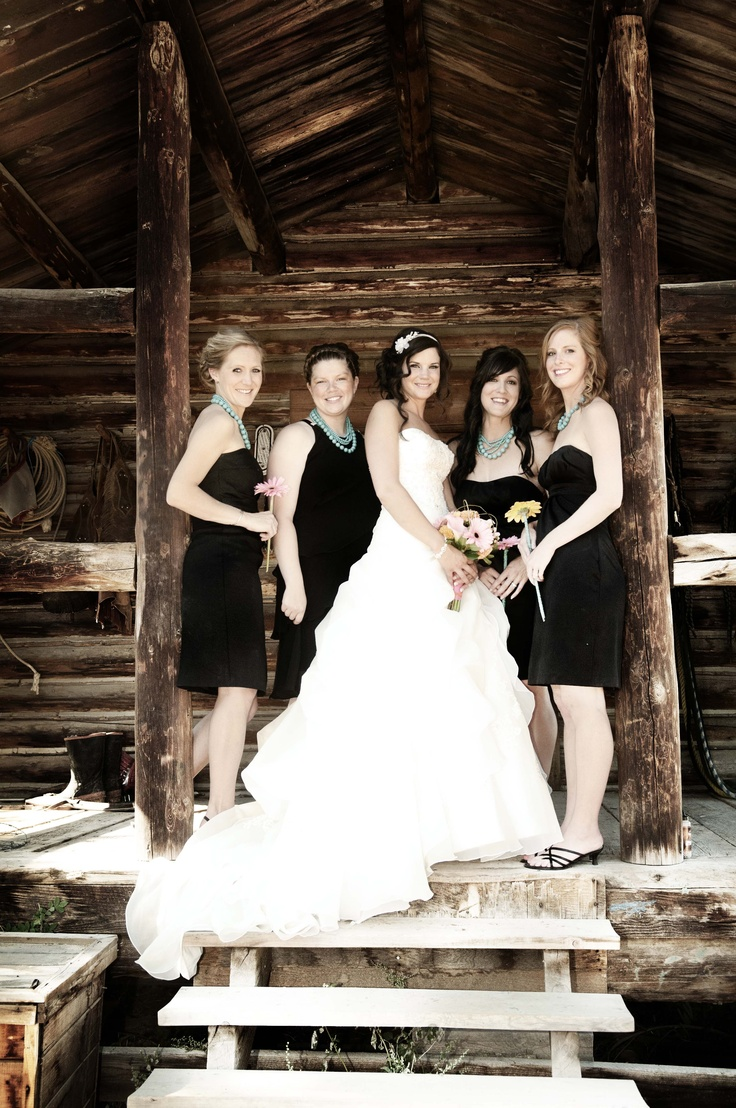 You could do a black and white theme to class up the country - accent with flax or burlap color.