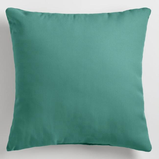 Teal Outdoor Throw Pillow