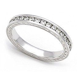 Platinum Channel set Diamond Eternity Wedding Band Ring (H/SI, 3/5 ct.)