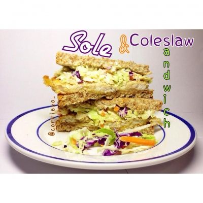 how to make coleslaw sandwich
