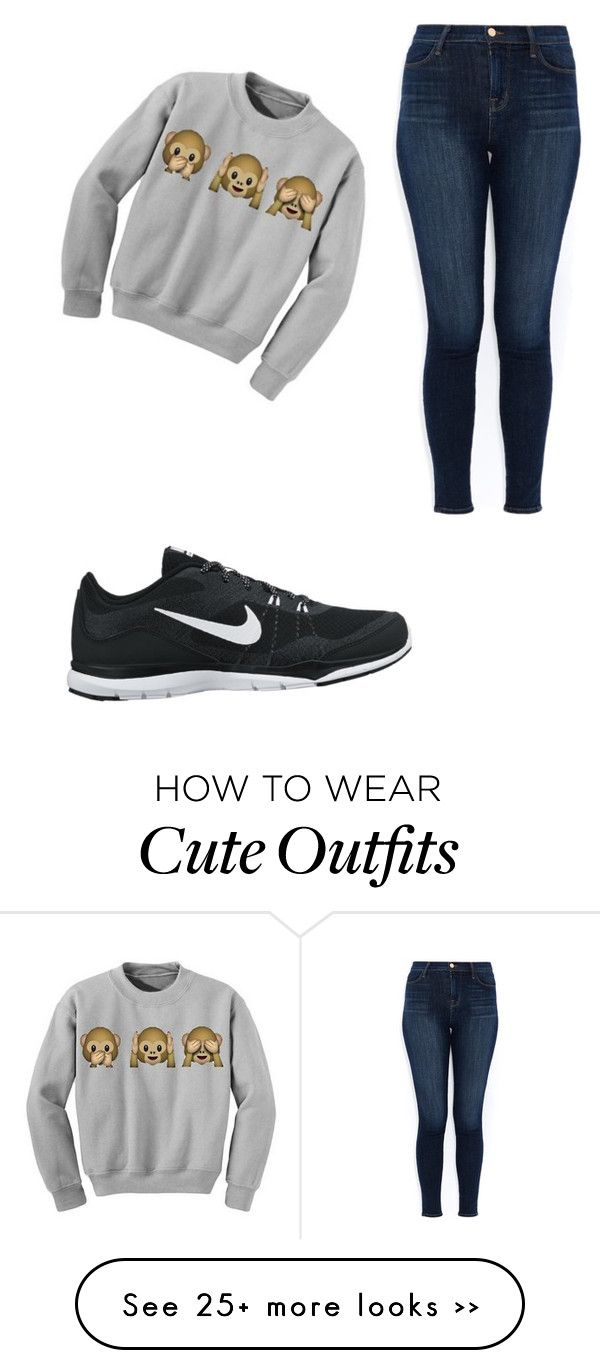 """""""Chiller Outfit"""" by inspiractiongirl on Polyvore featuring J Brand and NIKE"""