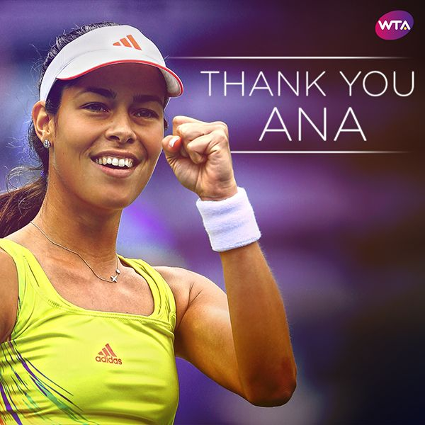 Via Serena Williams · ‏ 28 Dec 2016:    Ana Ivanovic my goodness I will miss your smile. All my love ❤️❤️  World #2's response to former No. 1, French Open champion Ana Ivanovic announcing her retirement