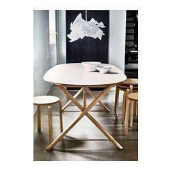 IKEA - DALSHULT / SLÄHULT, Tafel, Het tafelblad van melamine is vocht- en krasbestendig, en is makkelijk schoon te houden.Het tafelblad heeft voorgeboorde gaten voor het onderstel om de montage te vereenvoudigen.