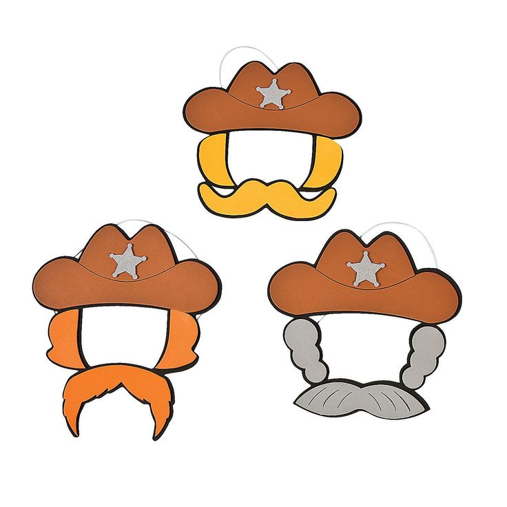 Cowboy Hat and Mustache Craft Kit - OrientalTrading.com $10.00/12