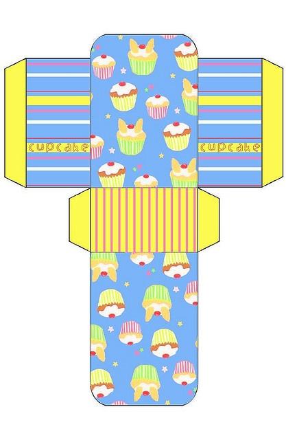 Blue Cupcakes Gift Bag by allatseawithabucketandspade, via Flickr