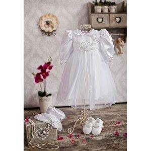 Komplet do chrztu Gabi - Sukienka + Kapelusz #sukienka #kapelusz #chrzest