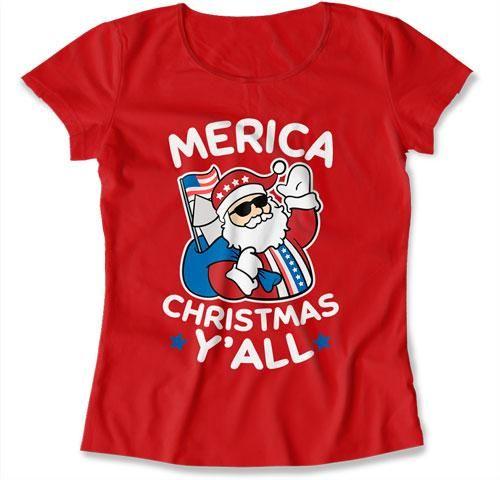 LADIES - Merica Christmas Y'All - TEP-526