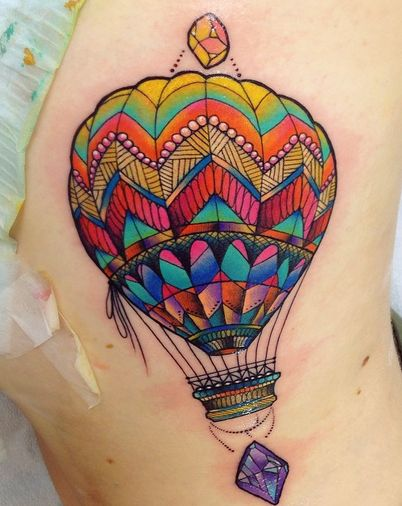 watercolor hot air balloon tattoo - Google Search