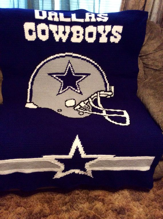 Dallas Cowboys  Crochet Crocheted Afghan Blanket by maltesedreamer