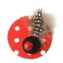 Red: Brooch and Pin. Spring/Summer Collection 2012.  Colección Primavera/Verano. Broche/pinza.