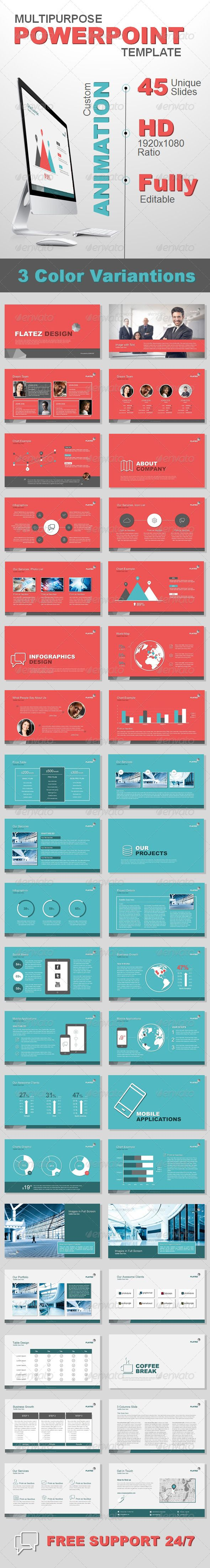 Multipurpose Business Template (Powerpoint Templates) #Powerpoint #Powerpoint_Template #Presentation