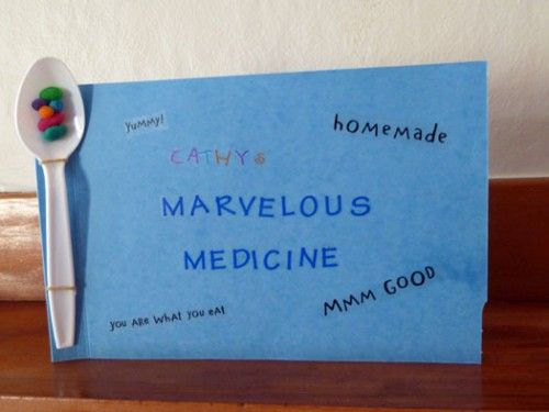 Activity based on Roald Dahls book George's Marvelous Medicine. Write down your very own marvelous medicine. What's it called? What does it cure?