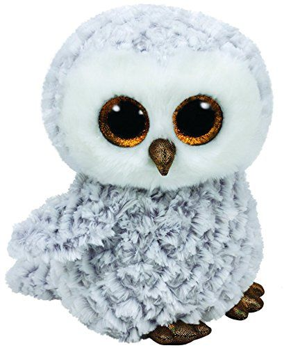 Ty Beanie Boos Owlette - White/Gray Owl Medium