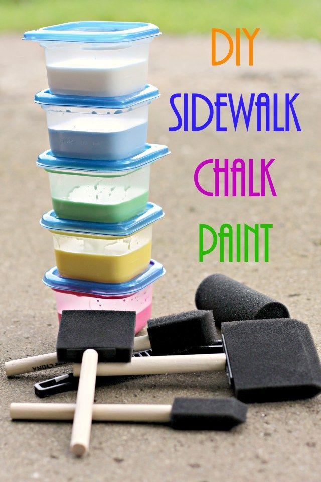 Homemade Sidewalk Chalk Paint #HugtheMess #ad #Cbias