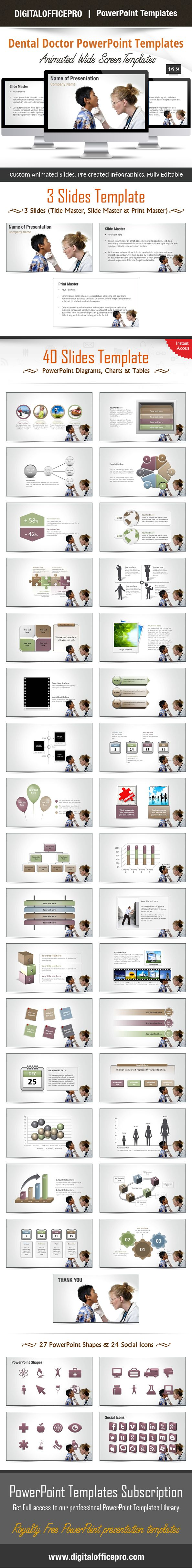Impress and Engage your audience with Dental Doctor PowerPoint Template and Dental Doctor PowerPoint Backgrounds from DigitalOfficePro. Each template comes with a set of PowerPoint Diagrams, Charts & Shapes and are available for instant download.