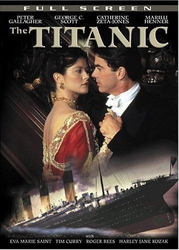 1996 Titanic Movie Poster, Catherine Zeta-Jones, Peter Gallagher