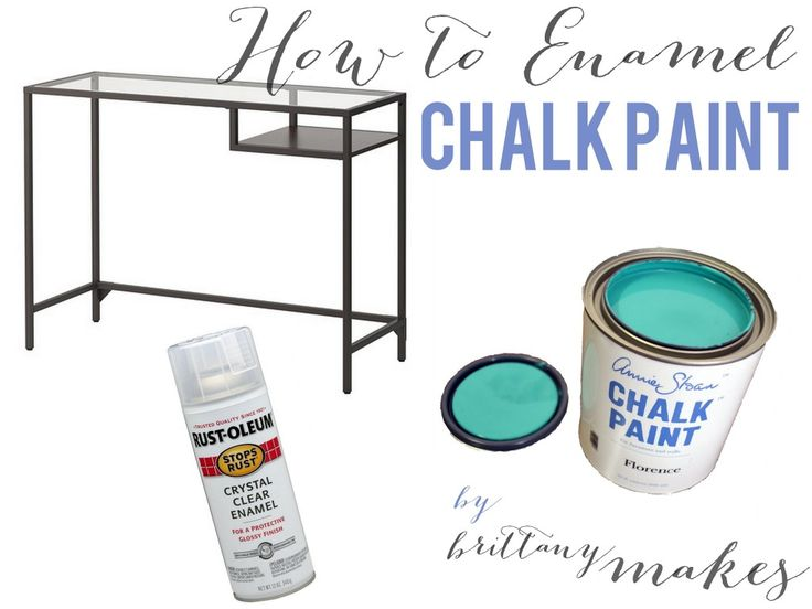 how to enamel chalk paint