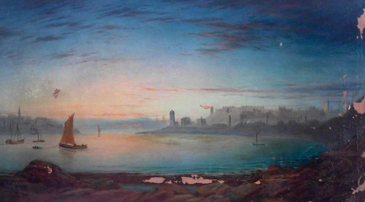 North Shields from the River Mouth James Shotton (1824–1896) Quadrant, North Tyneside Council
