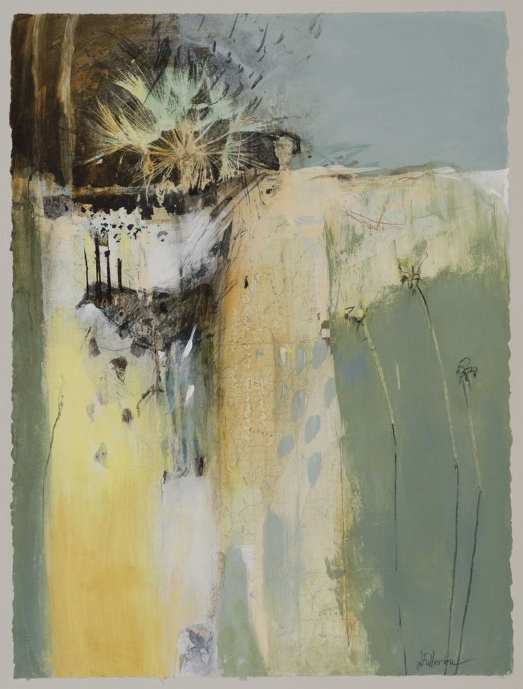 "Contemporary Mixed Media - ""Angel Whispers"" (Original Art from Joan Fullerton)"