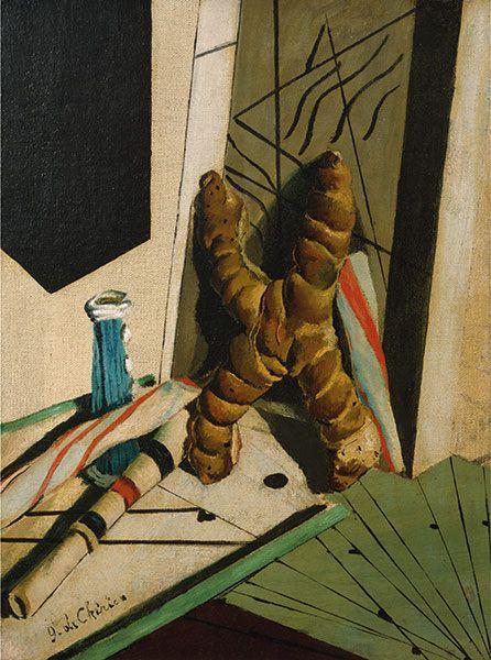 Giorgio de Chirico Il linguaggio del bambino, 1916 Olio su tela, cm 41,3 x 28 New York, Pierre and Tana Matisse Foundation Collection - Opera in mostra