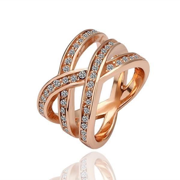 Rose Plated Infinite Matrix Ring Size, Women's