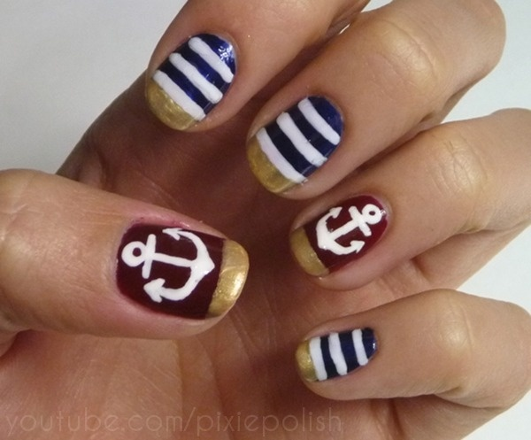The 25 best nautical nail designs ideas on pinterest nautical the 25 best nautical nail designs ideas on pinterest nautical nails sailor nails and anchor nails prinsesfo Image collections