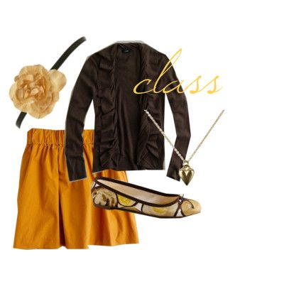 Here are some cute college outfits for our future preppy college students!  My favorite is the gold skirt :)