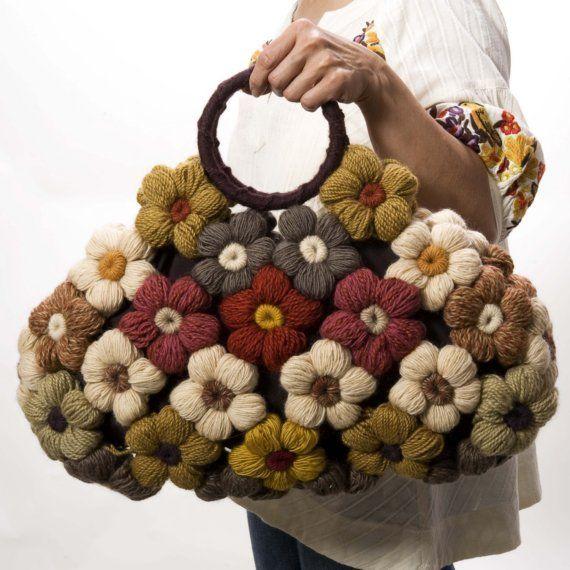 crocheted flower purse   SALE crochet flower purse