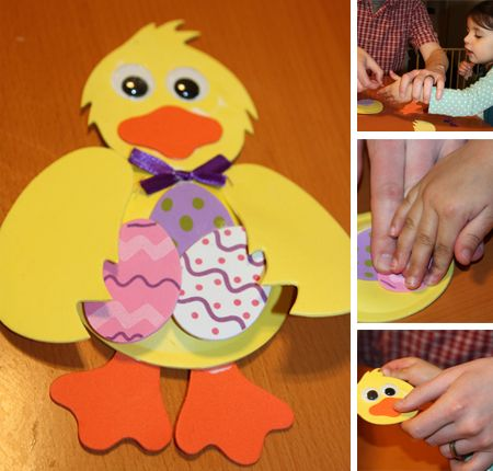 Preschool Crafts for Kids*: Cute Easter Chick Paper Craft