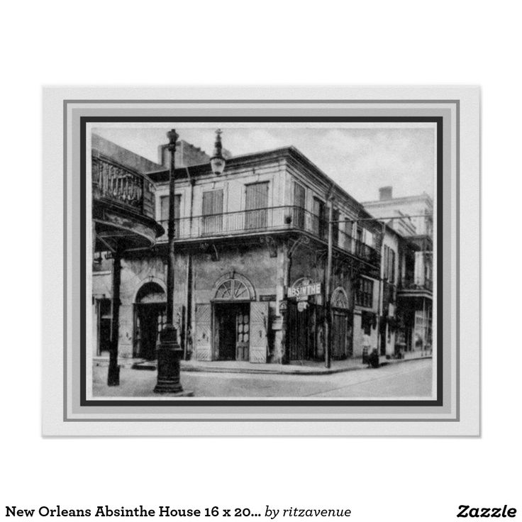 New orleans absinthe house 16 x 20 poster