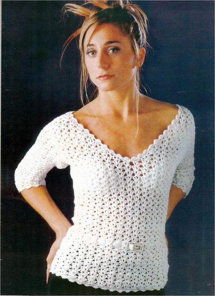 White Top free crochet pattern