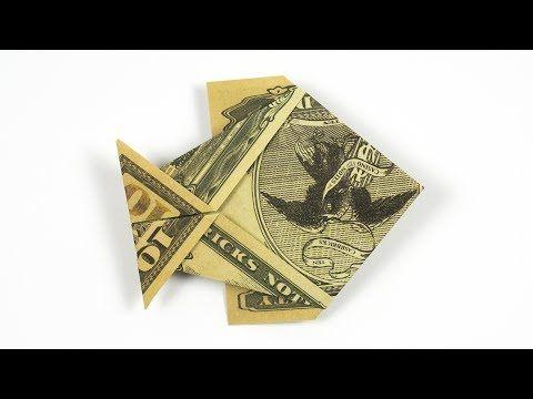 Money Origami Fish Folding Instructions Folding Cash Into A Fish Youtube Dollar Origami Origami Fish Money Origami