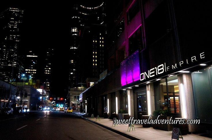ONE18 EMPIRE Bar and Restaurant in Downtown Calgary, Alberta