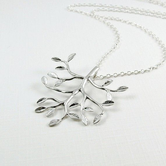I MUST have this tree pendant!    Tree Necklace Sterling Silver Chain  'Grow' by RoseAndRaven, $26.00