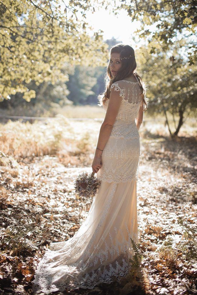 Blake & Megan |  vintage wedding dress Claire Pettibone | San Diego woodland wedding | Bailey's Palomar Resort (by Corinne Alexandra)