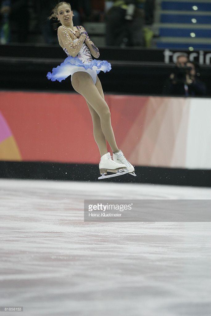 2006 Winter Olympics, Italy Carolina Kostner in action during Ladies' Short Program at Palavela, Turin, Italy 2/21/2006