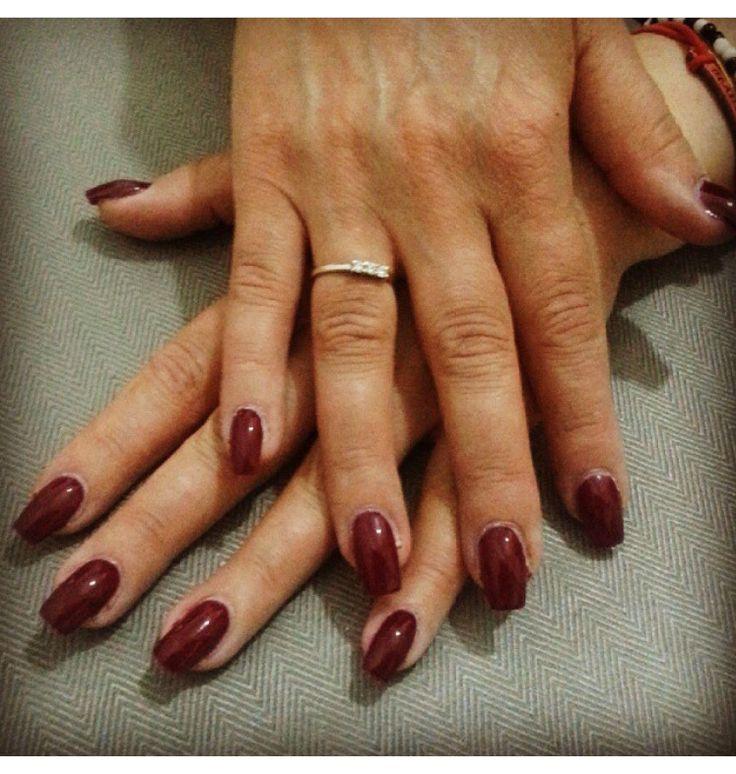 #ricostruzione unghie #red bordeaux #nails
