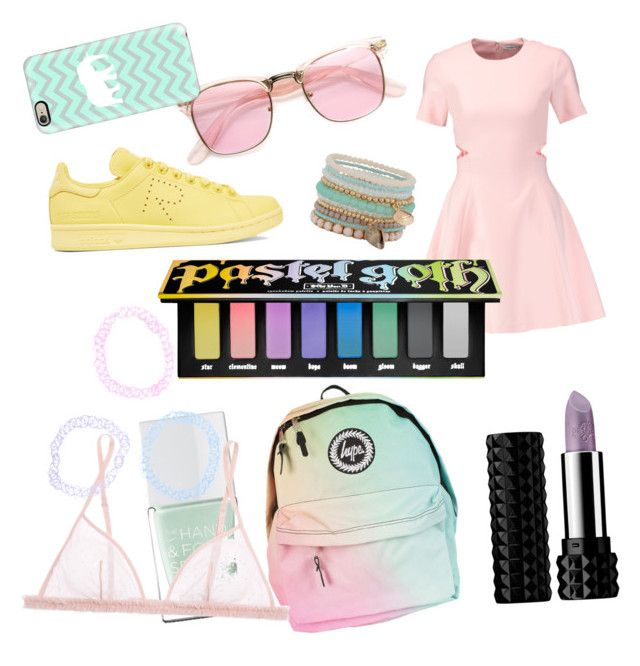"""#9 pastel goth"" by matilda-key on Polyvore featuring Kat Von D, Elizabeth and James, ALDO, ZeroUV, The Hand & Foot Spa, adidas Originals, La Perla and Casetify"