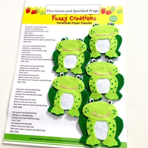 Five Green and Speckled Frogs - Finger Puppets | Plantsd ...