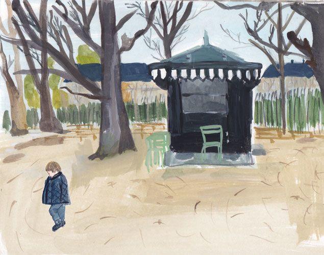 emile. jardin du lux. painting + illustration - jackie mancuso
