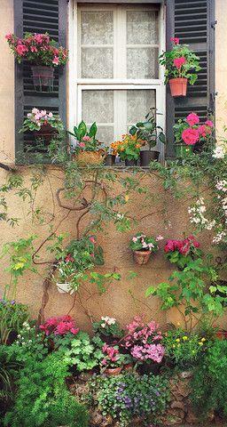 outdoor living-xx..tracy porter..poetic wanderlust-Valbonne Window- Provence, France