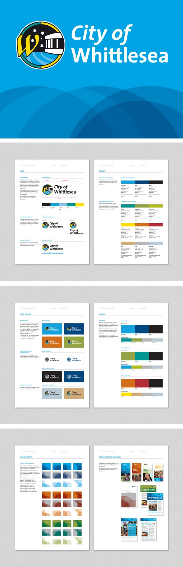 Brand extension (retaining existing logo) and templates for City of Whittlsea. www.fenton.com.au #communication #PR #branding #graphicdesign