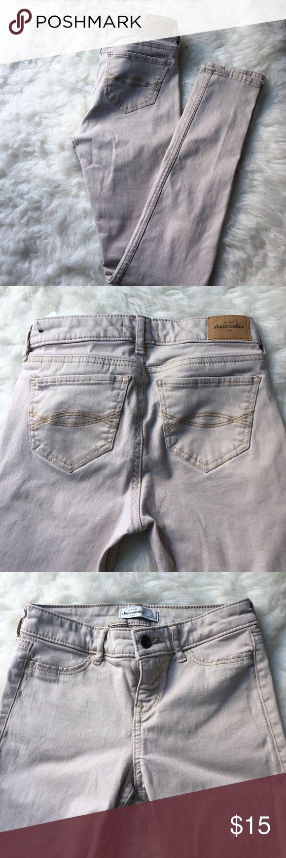 """Abercrombie Kids Khaki Skinny Jeans Abercrombie Kids   Size 14   Khaki Skinny Jeans   Stretchy   Waist 24"""" Inches, Inseam 26"""" Inches abercrombie kids Bottoms Jeans"""